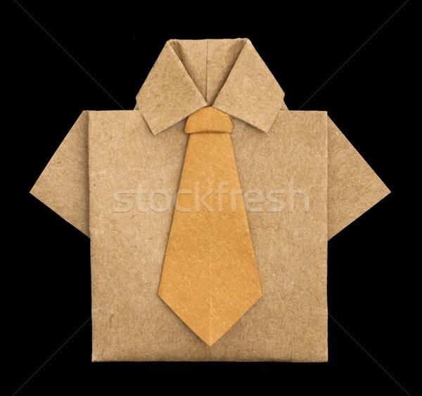 Isolated paper made brown shirt. Stock photo © deyangeorgiev