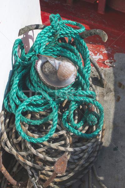 Fishnets on fish boat Stock photo © deyangeorgiev