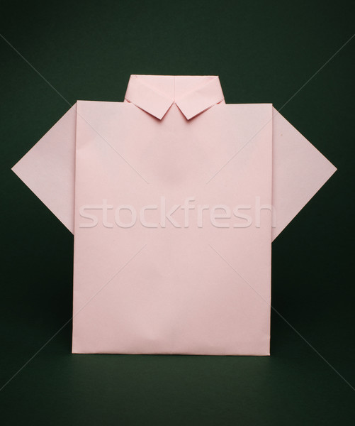 Isolated paper made pink shirt  Stock photo © deyangeorgiev