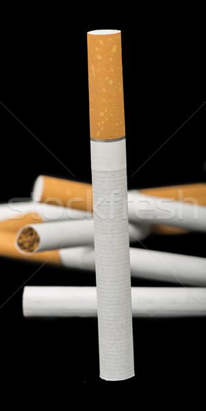 Sigara ön plan çok sigara sağlık paket Stok fotoğraf © deyangeorgiev