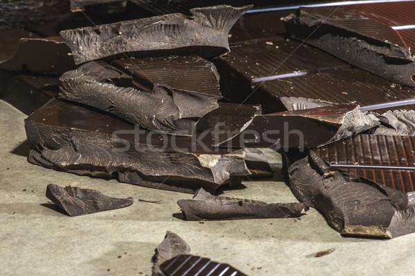 Stock photo: Chocolate bar crushed