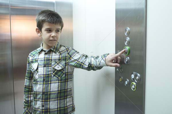 Child in an elevator Stock photo © deyangeorgiev