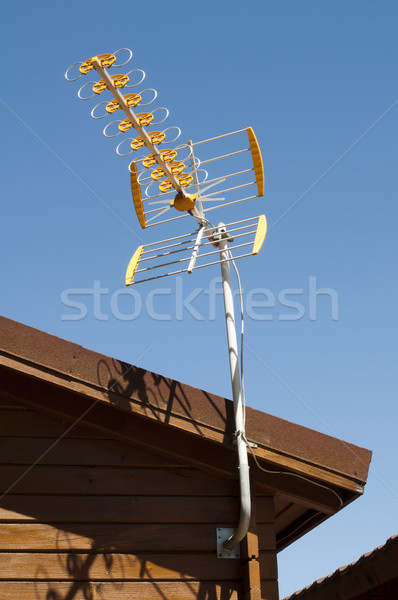 House and antenna  Stock photo © deyangeorgiev