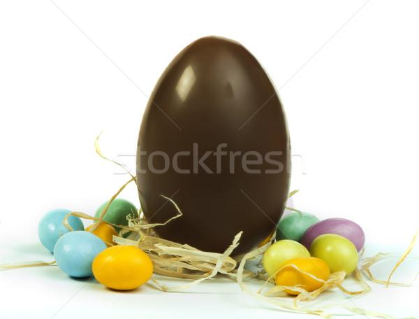 Chocolate Easter Egg Stock photo © deyangeorgiev