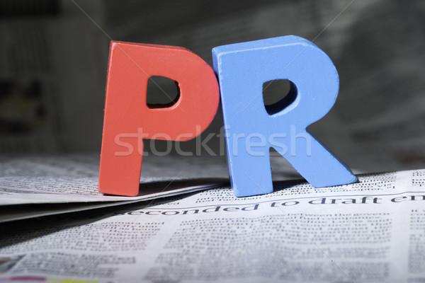 Palavra pr jornal cartas vermelho Foto stock © deyangeorgiev