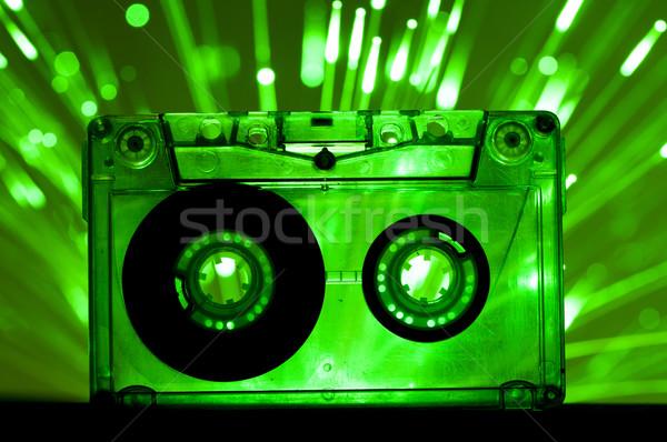 Transparent Cassette tape disco lights background Stock photo © deyangeorgiev