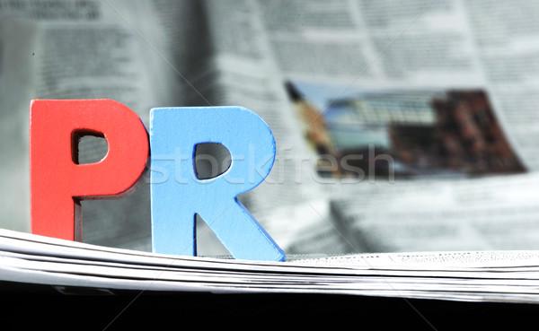 Word PR on newspaper Stock photo © deyangeorgiev