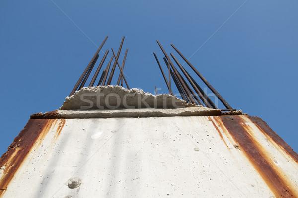 старые стали конкретные Blue Sky фон металл Сток-фото © deyangeorgiev