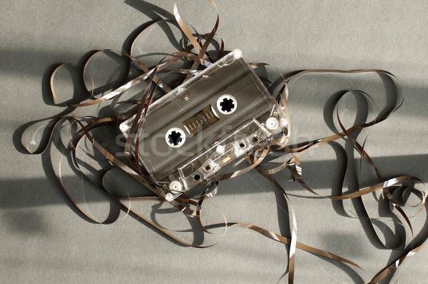 Audio tape cassette with subtracted out tape.  Stock photo © deyangeorgiev
