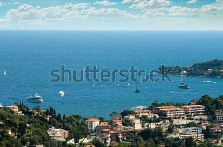 View of Monaco and many yachts in the bay Stock photo © deyangeorgiev