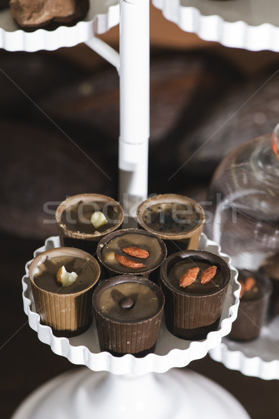 Chocolade schotel voedsel achtergrond groep melk Stockfoto © deyangeorgiev