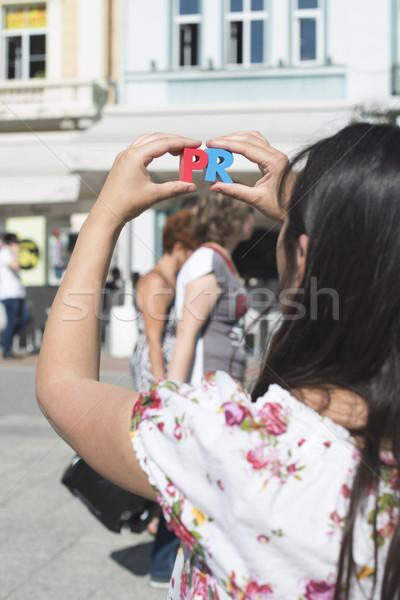 женщины письма pr ходьбе Сток-фото © deyangeorgiev