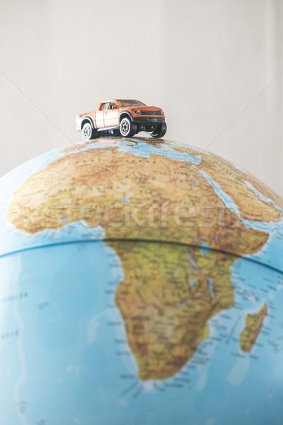 Autó földgömb miniatűr világ teherautó kék Stock fotó © deyangeorgiev