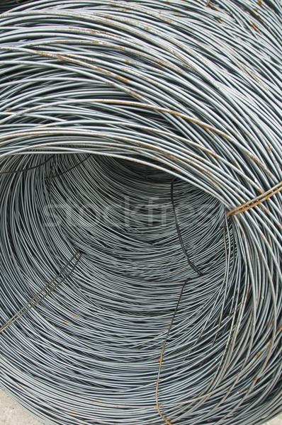 Aço barras rolar materiais de construção construção metal Foto stock © deyangeorgiev