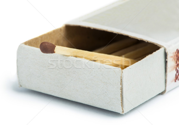 White isolated matches and matchsticks Stock photo © deyangeorgiev