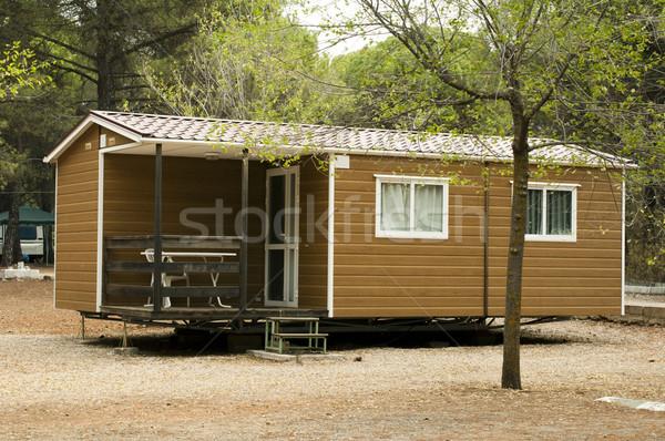 Mobil lakások barna bungaló kempingezés ház Stock fotó © deyangeorgiev