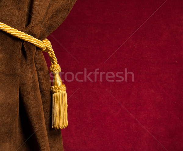 Red and brown theatre curtain Stock photo © deyangeorgiev