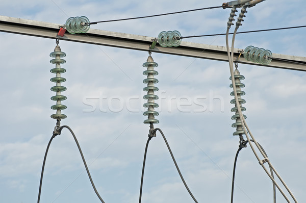 High-voltage wire Stock photo © deyangeorgiev