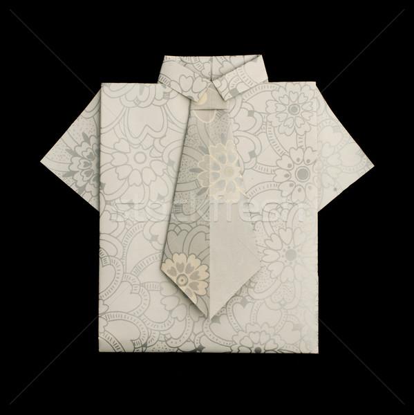 Isolated paper made shirt. Stock photo © deyangeorgiev