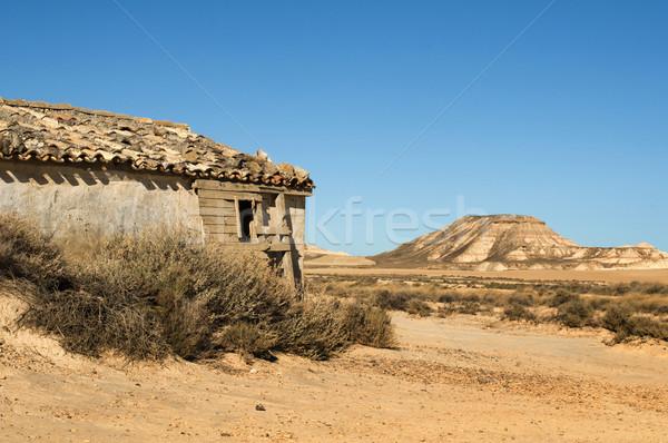 Stock fotó: Kicsi · ház · préri · vad · nyugat · természet
