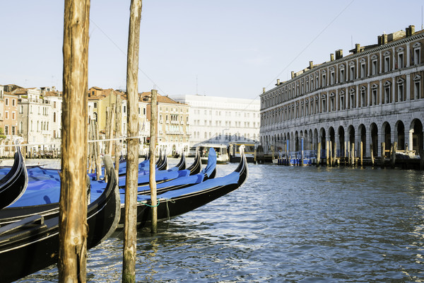 Oude gondel Venetië boot water Stockfoto © deyangeorgiev