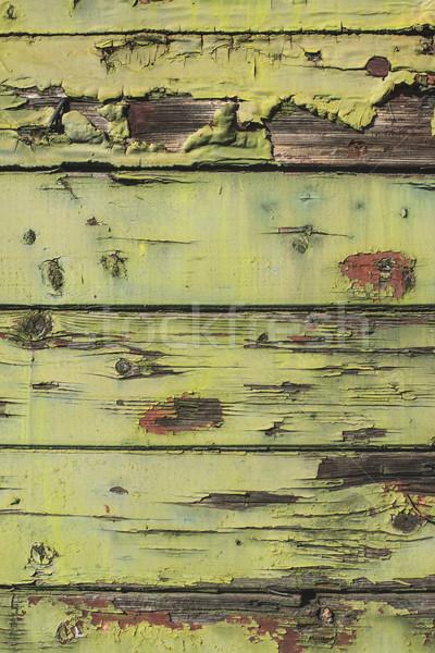 古い ひびの入った 緑 木製 木材 塗料 ストックフォト © deyangeorgiev