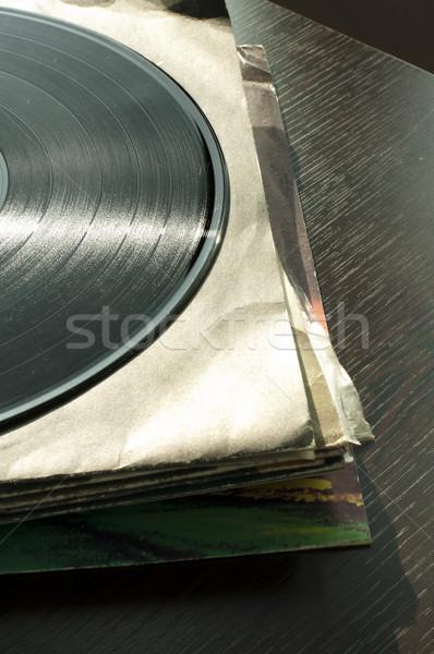 Muzyki retro vintage rekord mediów winylu Zdjęcia stock © deyangeorgiev