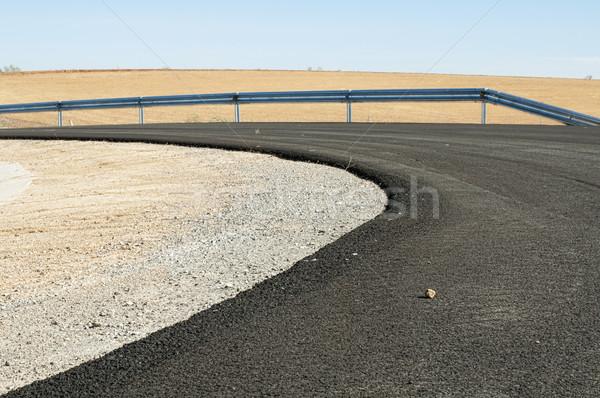 New asphalt highway road Stock photo © deyangeorgiev