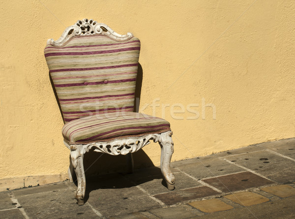 Old chair in baroque style Stock photo © deyangeorgiev