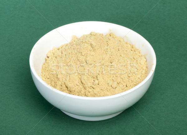 Powdered ginger in a bowl Stock photo © deyangeorgiev