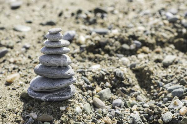 Mar pedras céu fundo verão Foto stock © deyangeorgiev