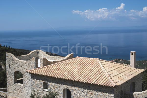 Typical Greek church Stock photo © deyangeorgiev