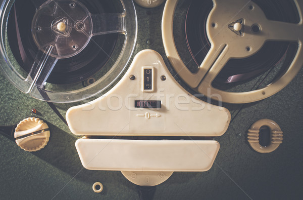 Old vintage tape recorder Stock photo © deyangeorgiev