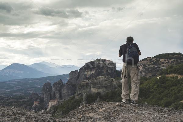 Uomo immagini Grecia top rock Foto d'archivio © deyangeorgiev