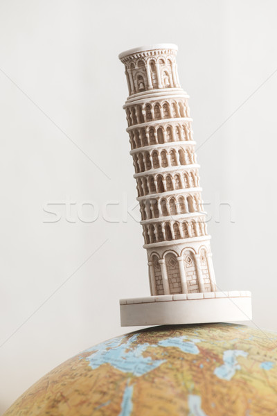 Pisa Tower on globe Stock photo © deyangeorgiev