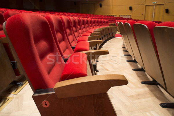 Teatro ópera vermelho filme concerto cadeira Foto stock © deyangeorgiev