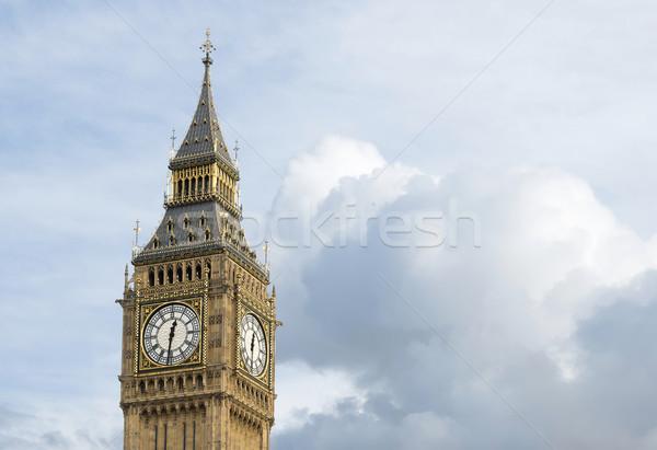 Big Ben Londres dramático nublado céu cidade Foto stock © deyangeorgiev
