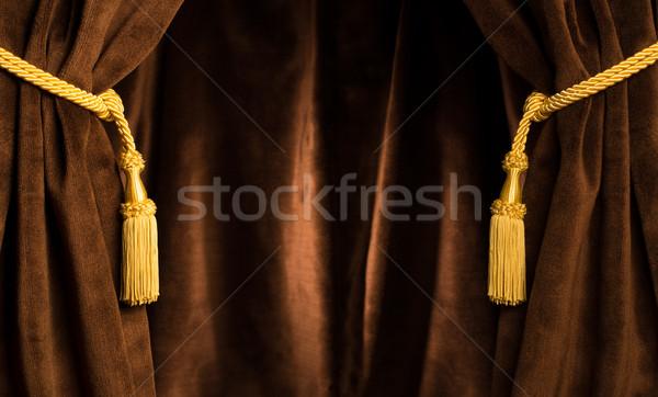 Brown theatre curtain Stock photo © deyangeorgiev