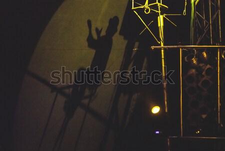 Shadow of an artist in the circus Stock photo © deyangeorgiev