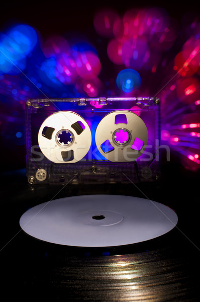 Lp vinyl record cassette tape disco Stockfoto © deyangeorgiev