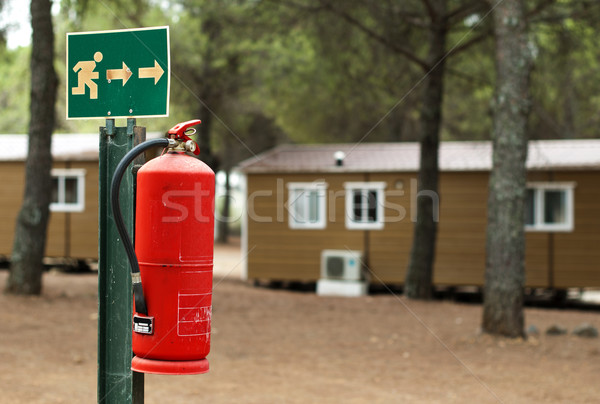 Fire extinguisher and mobile homes Stock photo © deyangeorgiev