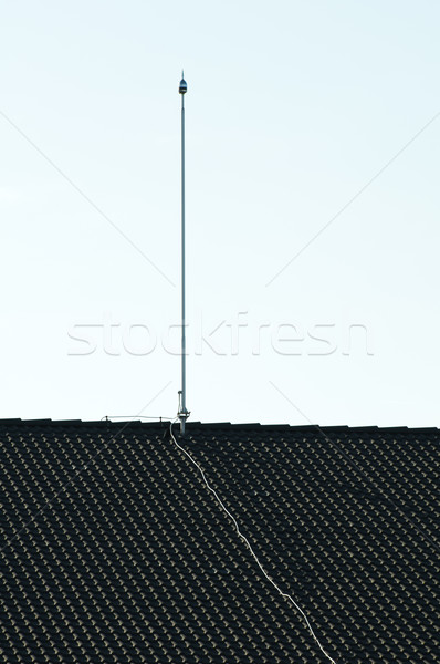 Lightning rod on the roof Stock photo © deyangeorgiev