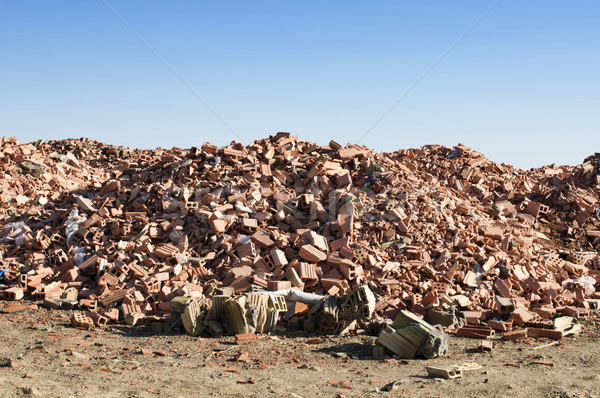 Landfill for disposal of construction waste Stock photo © deyangeorgiev