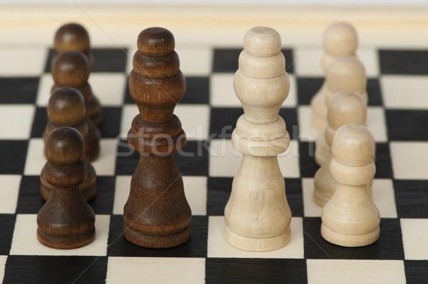 Foto stock: Batalha · vitória · xadrez · grupo · poder · sucesso