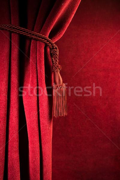 Red theatre curtain Stock photo © deyangeorgiev