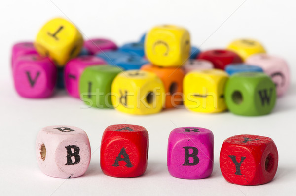 Text baby on colorful cubes Stock photo © deyangeorgiev