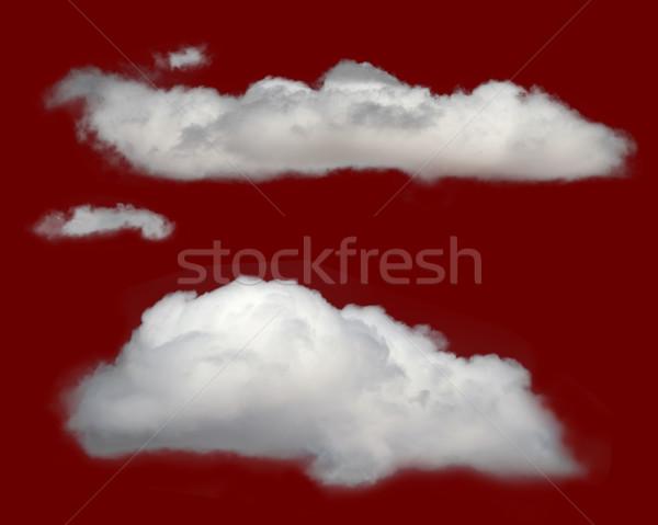 Witte geïsoleerd wolken abstract schoonheid Stockfoto © deyangeorgiev