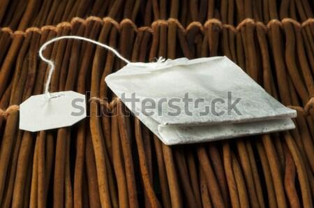 Sugar lumps on wooden base Stock photo © deyangeorgiev