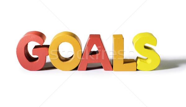 Multicolored word goals made of wood. Stock photo © deyangeorgiev