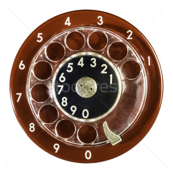 Vintage vermelho telefone dígitos tecnologia Foto stock © deyangeorgiev